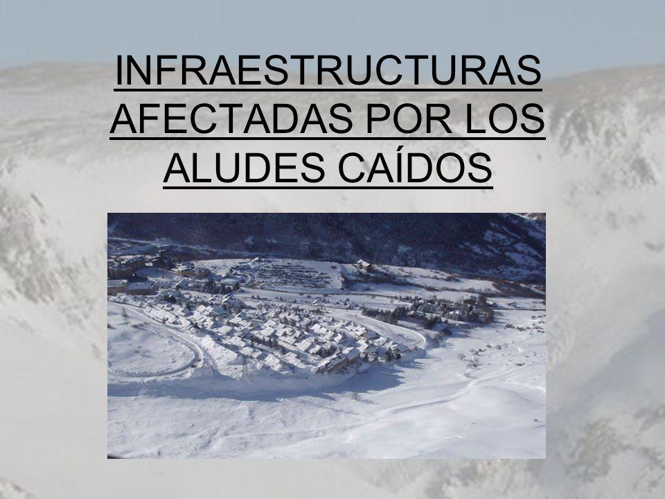 INFRAESTRUCTURAS AFECTADAS POR LOS ALUDES CAÍDOS