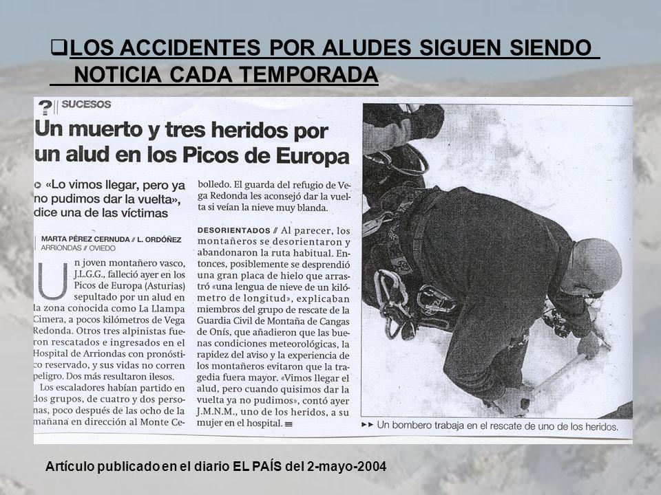 LOS ACCIDENTES POR ALUDES SIGUEN SIENDO NOTICIA CADA TEMPORADA