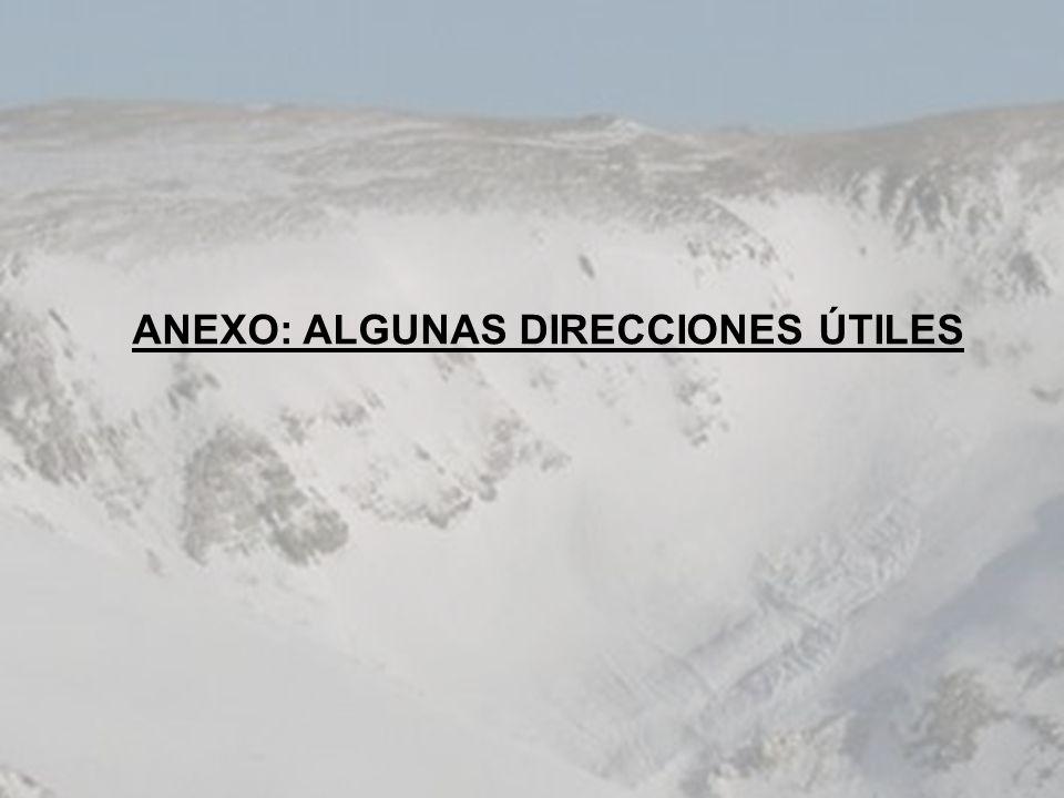 ANEXO: ALGUNAS DIRECCIONES ÚTILES
