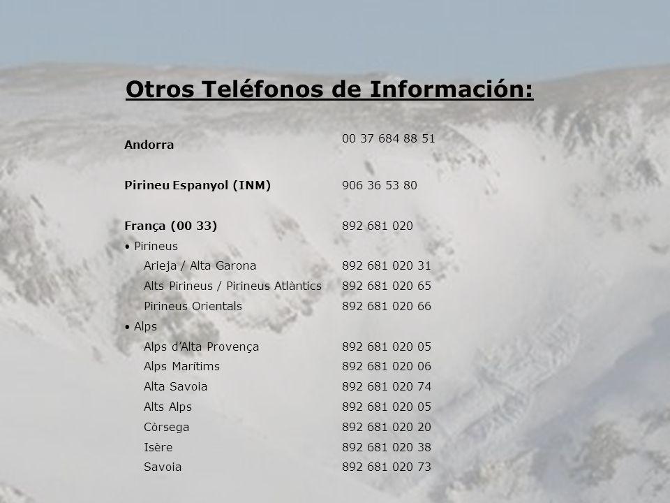 Otros Teléfonos de Información: