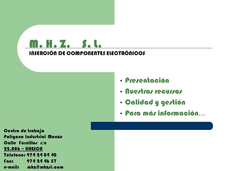 M. H. Z. S. L. INSERCIÓN DE COMPONENTES ELECTRÓNICOS