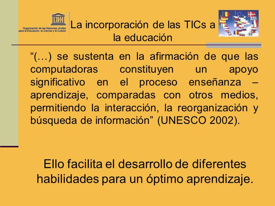 La incorporación de las TICs a la educación