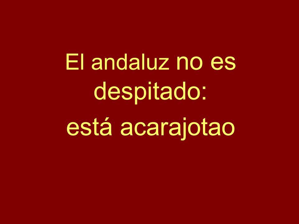 El andaluz no es despitado: está acarajotao