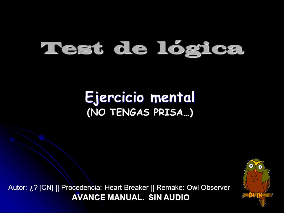 AVANCE MANUAL. SIN AUDIO