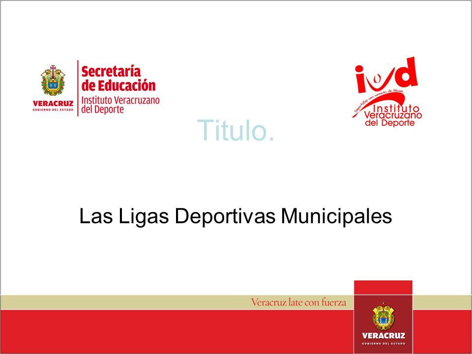 Las Ligas Deportivas Municipales