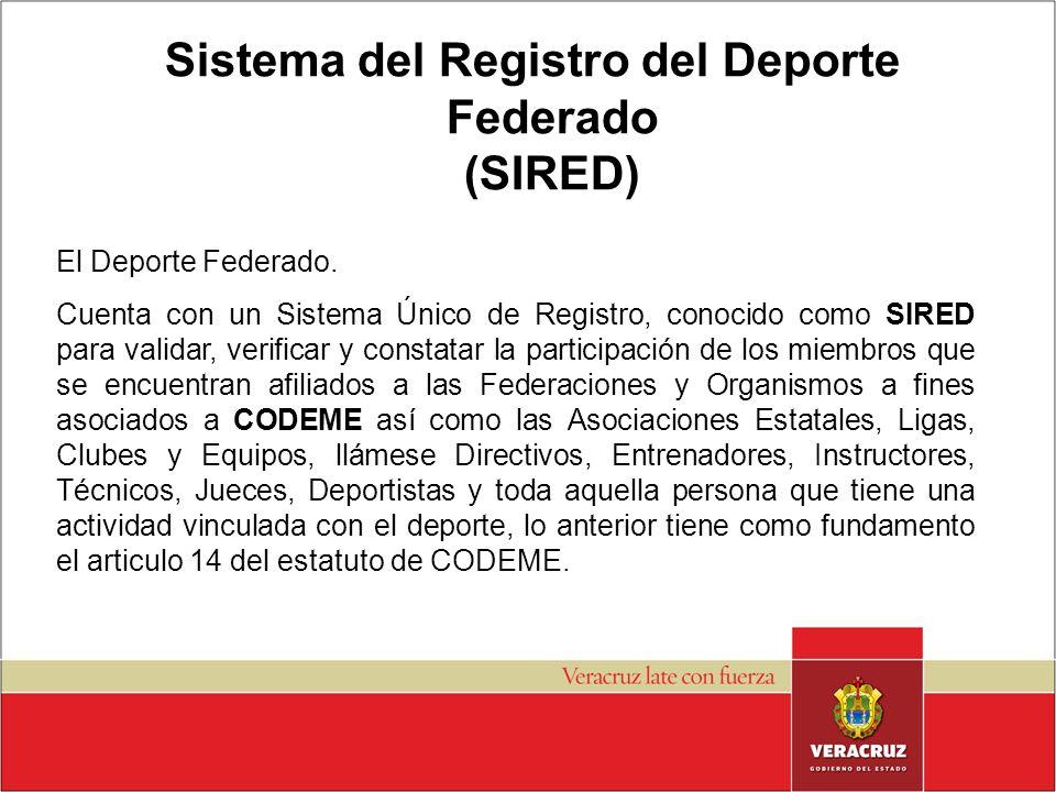 Sistema del Registro del Deporte Federado (SIRED)