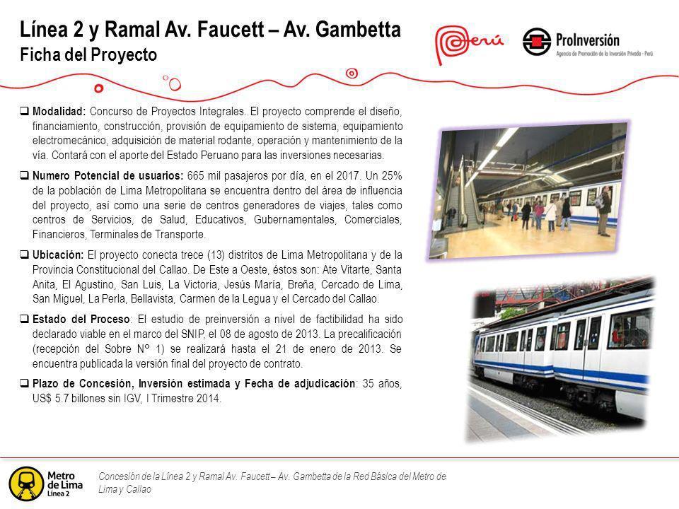 Línea 2 y Ramal Av. Faucett – Av. Gambetta