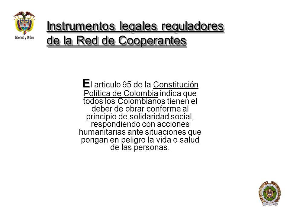 Instrumentos legales reguladores de la Red de Cooperantes
