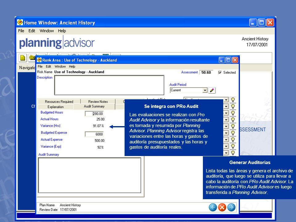 PRo Audit Advisor Captura la información de Auditoría que usted necesita, en un producto de software fácil de utilizar e intuitivo.