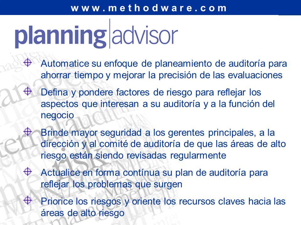 La Herramienta de Planeamiento de Auditoría Basada en Riesgos