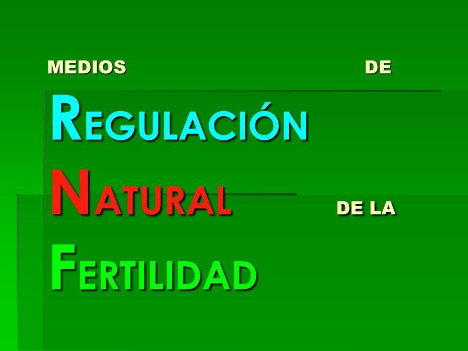 MEDIOS DE REGULACIÓN NATURAL DE LA FERTILIDAD