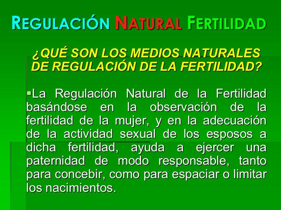 REGULACIÓN NATURAL FERTILIDAD