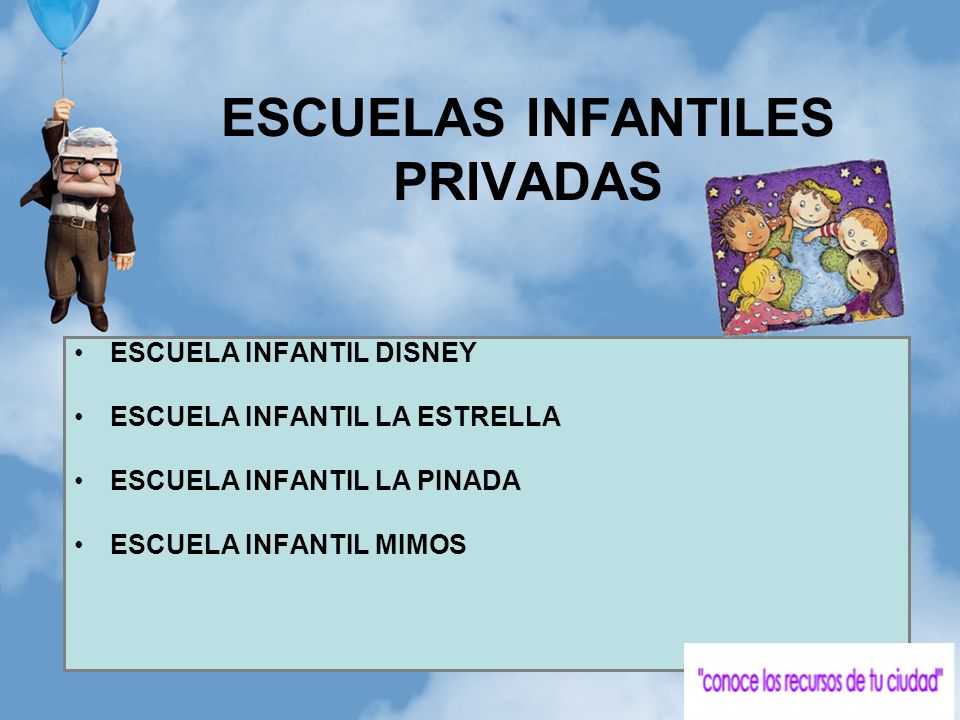ESCUELAS INFANTILES PRIVADAS