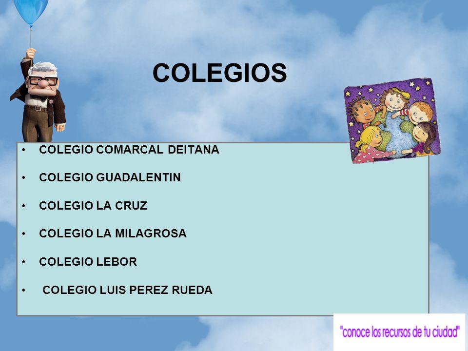 COLEGIOS COLEGIO COMARCAL DEITANA COLEGIO GUADALENTIN COLEGIO LA CRUZ