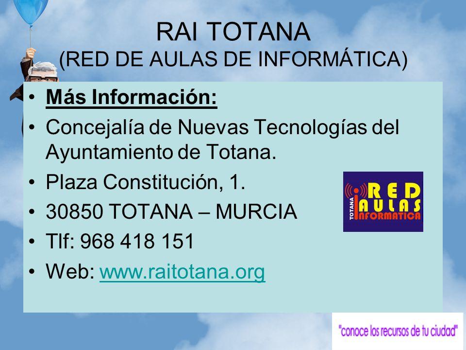 RAI TOTANA (RED DE AULAS DE INFORMÁTICA)