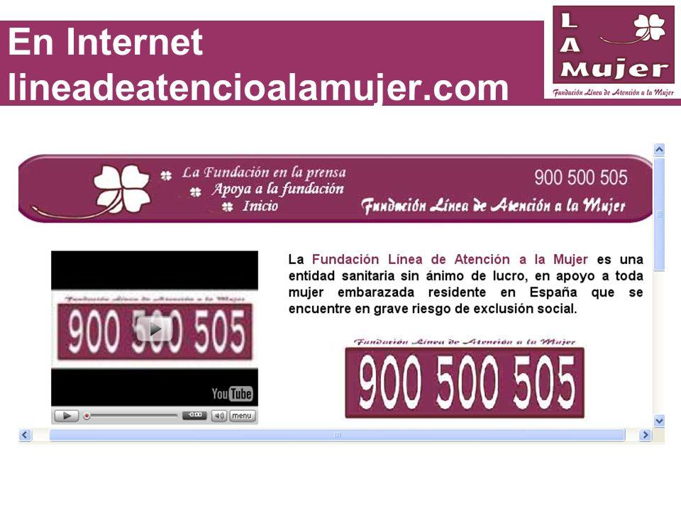 En Internet lineadeatencioalamujer.com