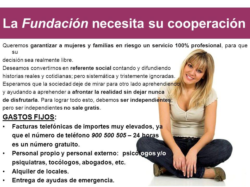 La Fundación necesita su cooperación