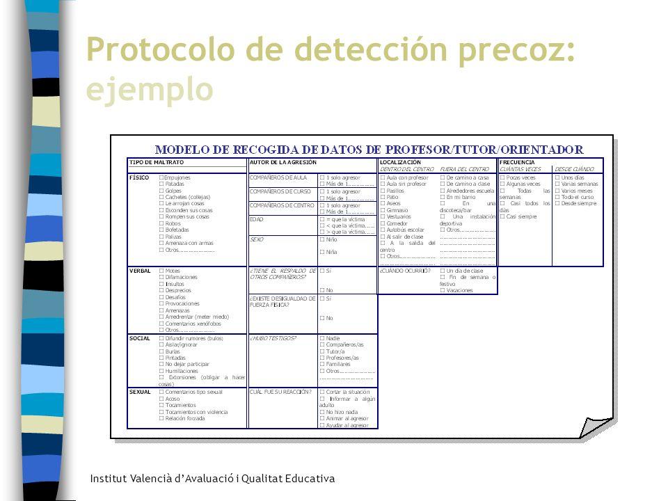 Protocolo de detección precoz: ejemplo