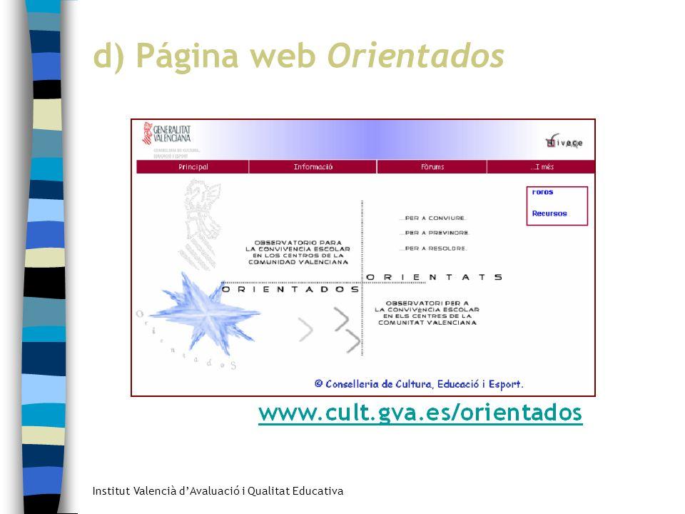 d) Página web Orientados