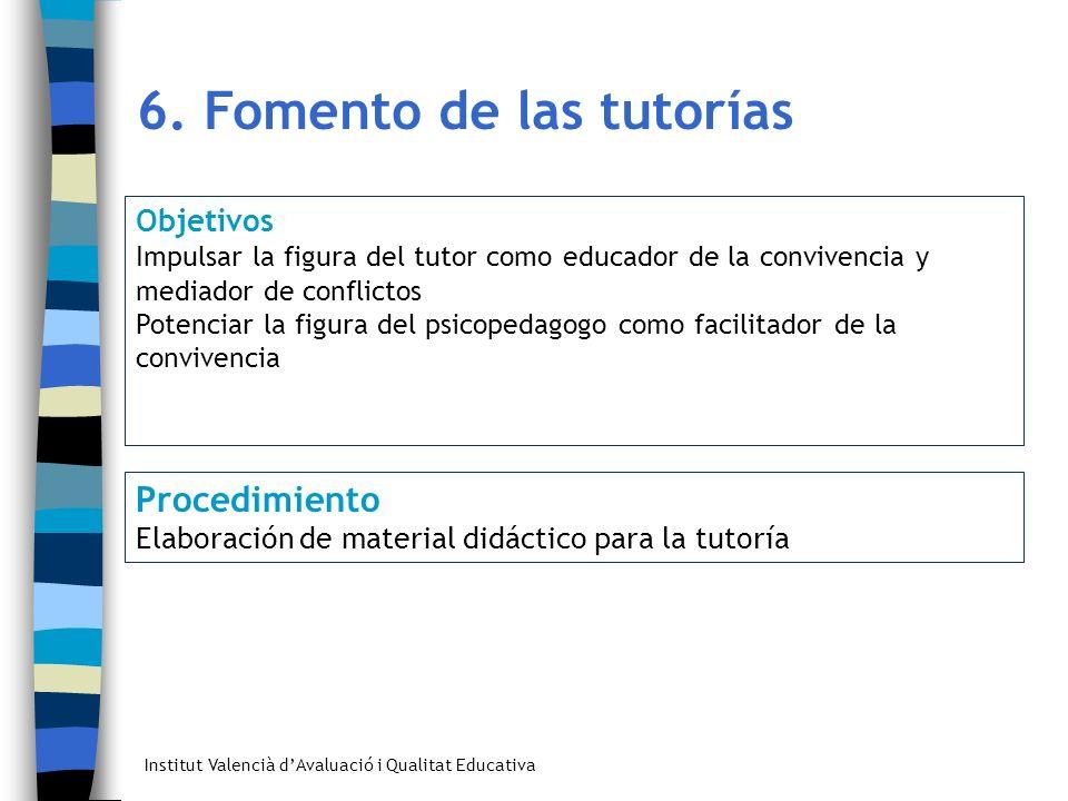 6. Fomento de las tutorías