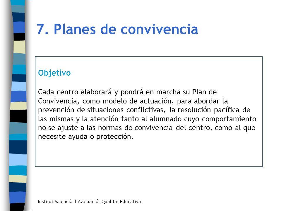 7. Planes de convivencia Objetivo