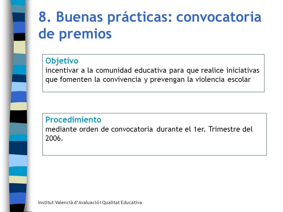 8. Buenas prácticas: convocatoria de premios