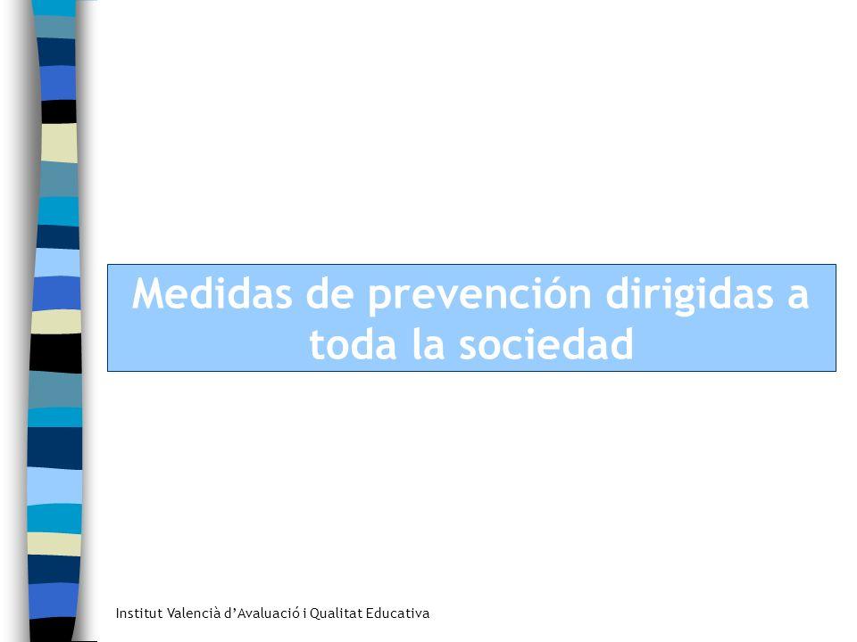 Medidas de prevención dirigidas a toda la sociedad