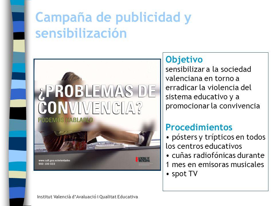 Campaña de publicidad y sensibilización