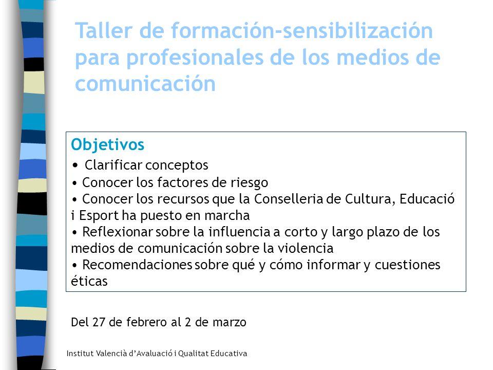Taller de formación-sensibilización para profesionales de los medios de comunicación
