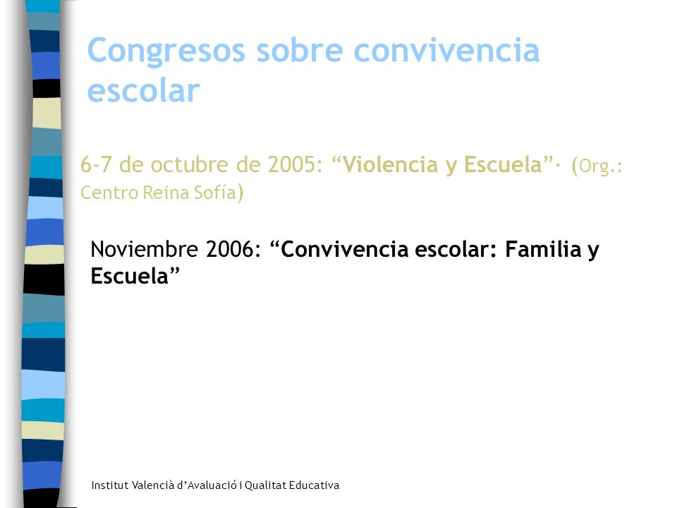 Congresos sobre convivencia escolar