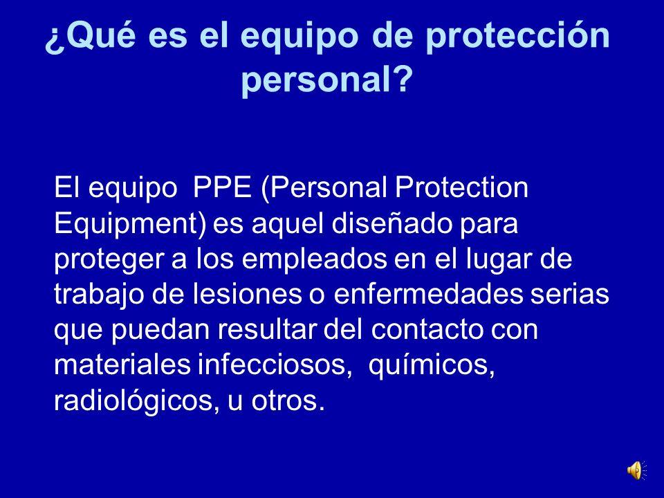 ¿Qué es el equipo de protección personal