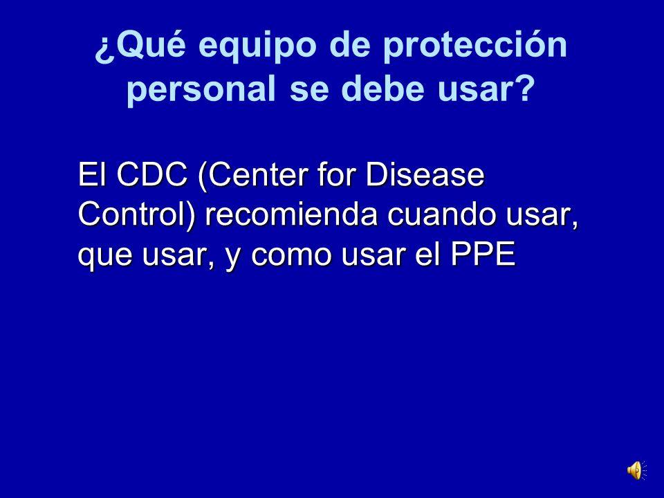 ¿Qué equipo de protección personal se debe usar
