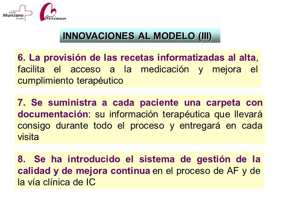 INNOVACIONES AL MODELO (III)