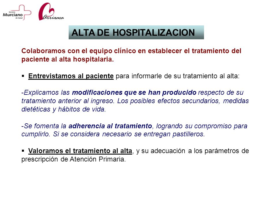 ALTA DE HOSPITALIZACION