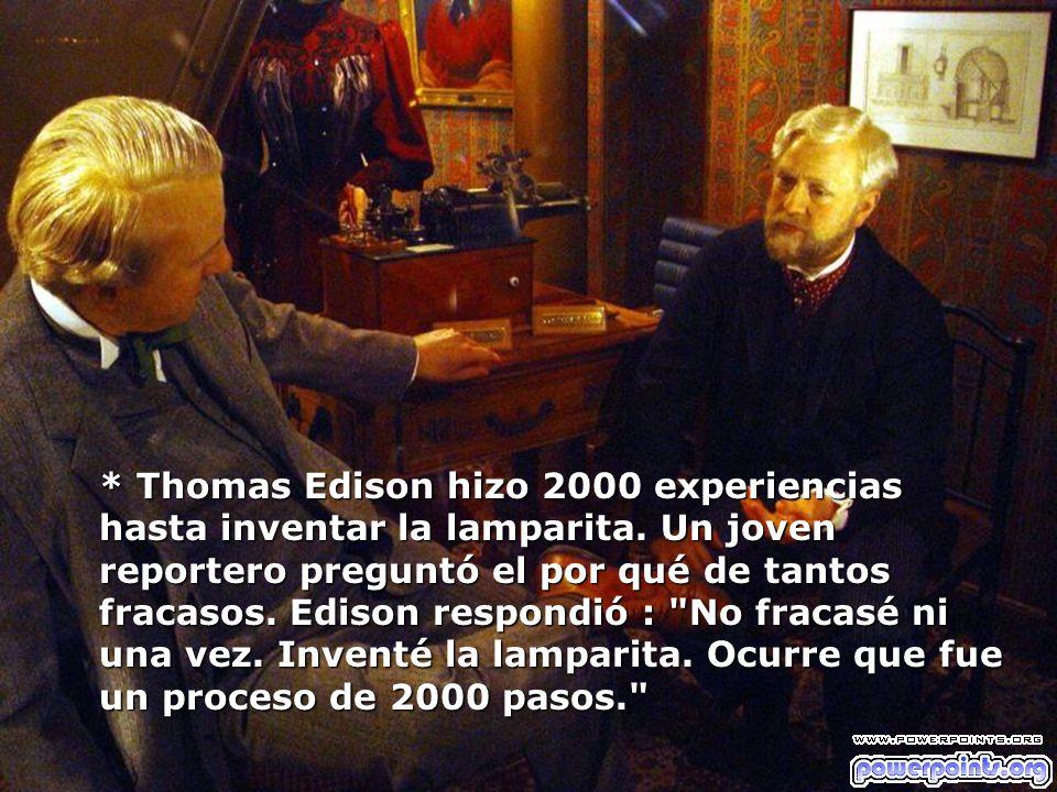 Thomas Edison hizo 2000 experiencias hasta inventar la lamparita