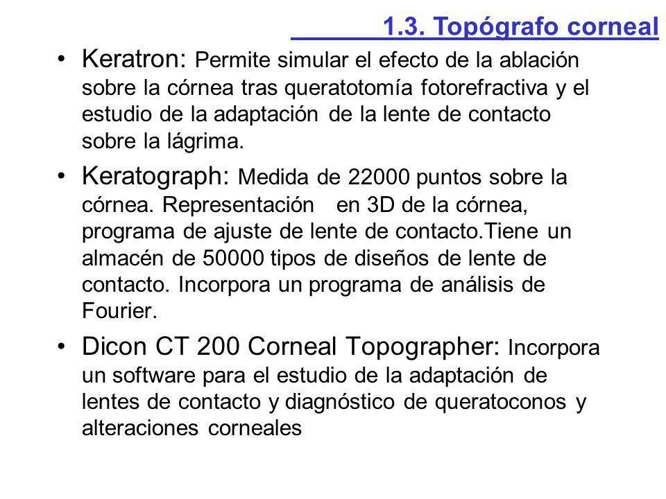 1.3. Topógrafo corneal