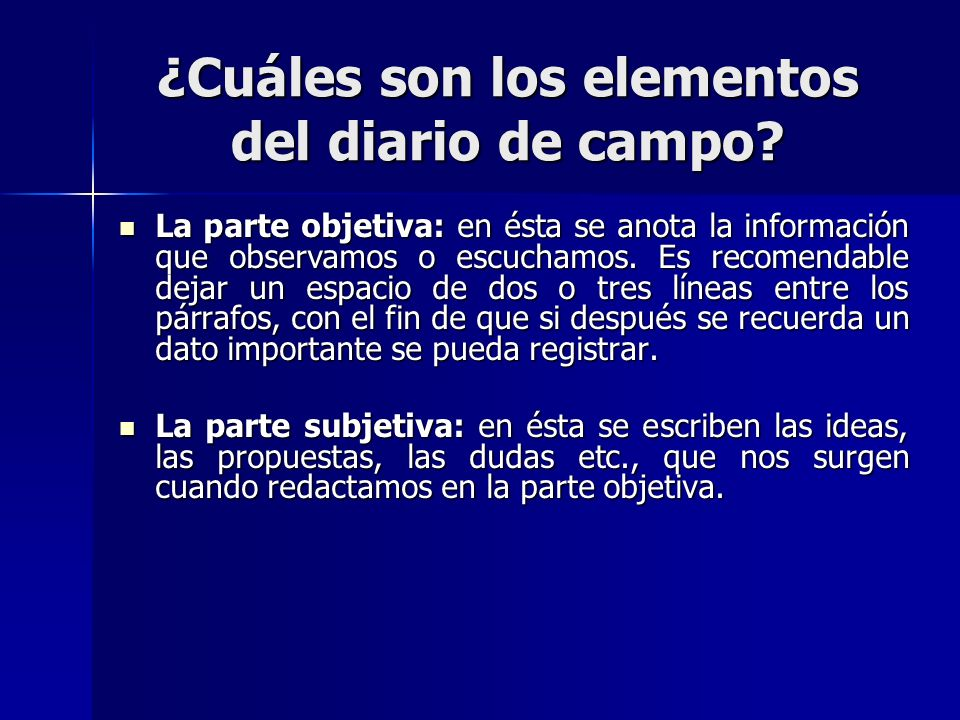 Diario de campo ppt video online descargar for Cuales son las partes de un periodico mural