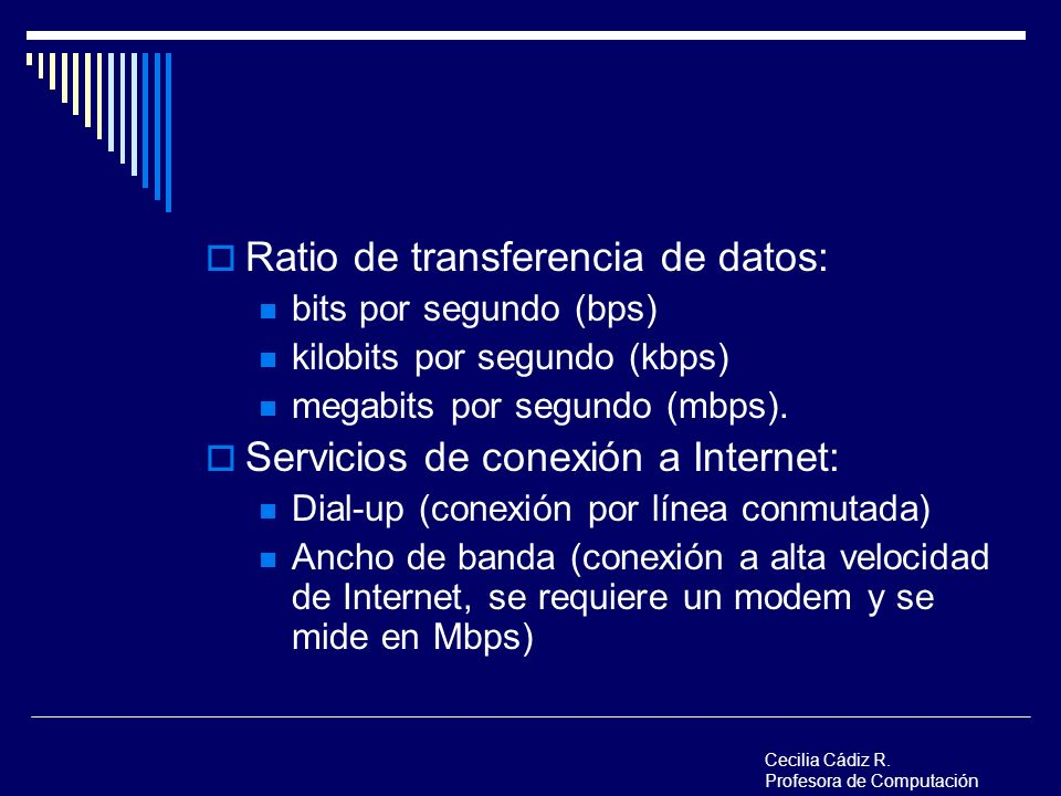 Ratio de transferencia de datos: