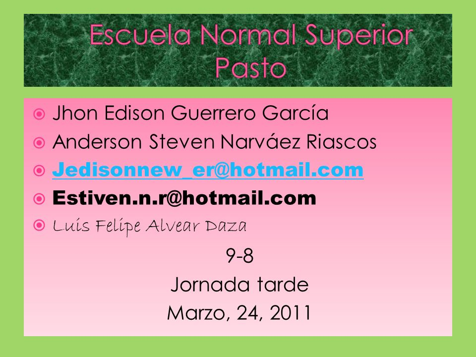 Escuela Normal Superior Pasto