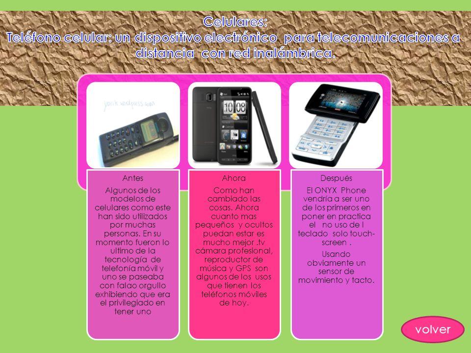 Teléfono celular: un dispositivo electrónico para telecomunicaciones a