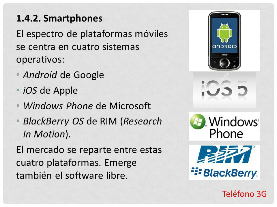 Windows Phone de Microsoft BlackBerry OS de RIM (Research In Motion).
