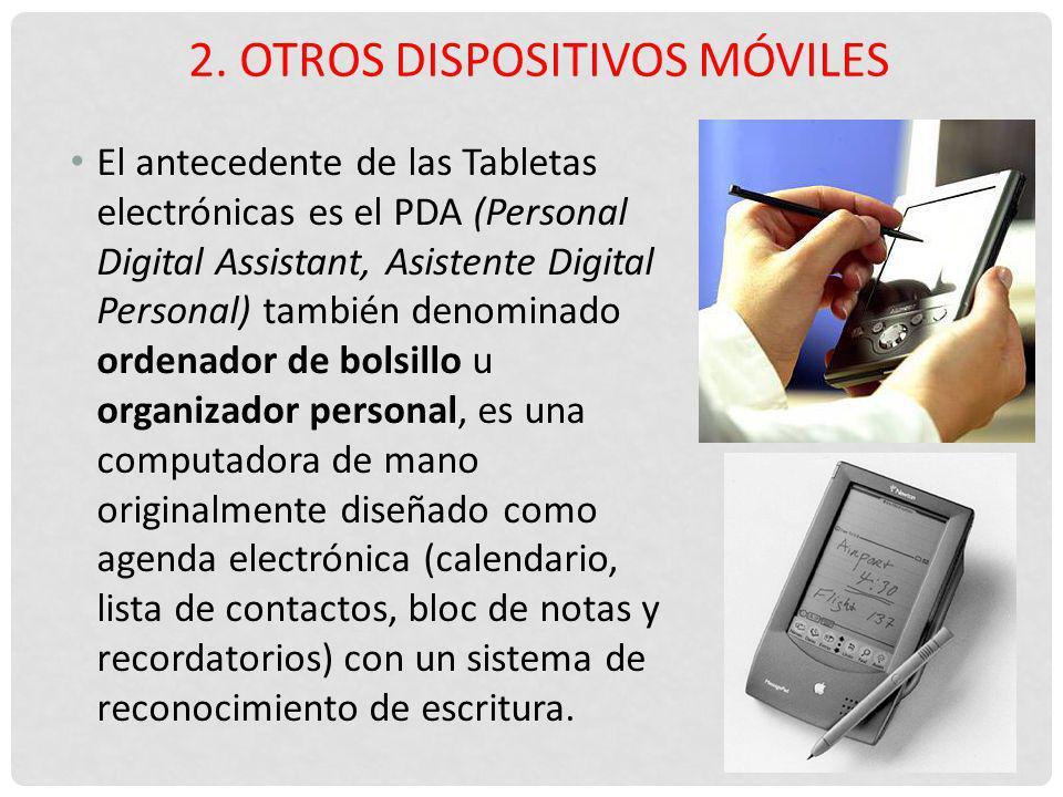 2. Otros dispositivos móviles