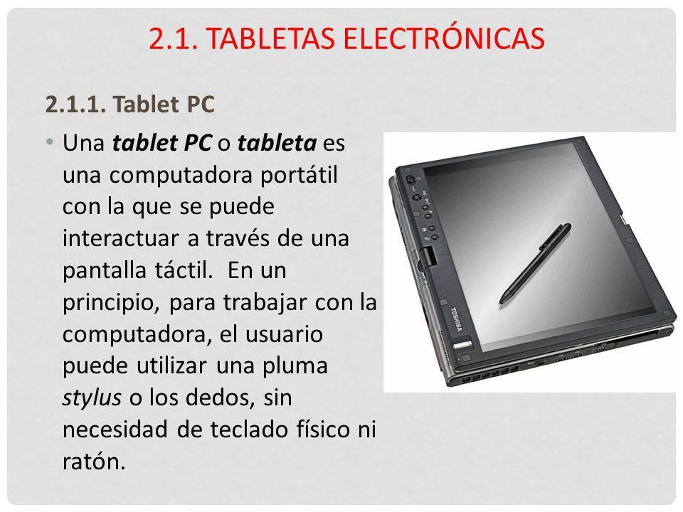 2.1. Tabletas electrónicas