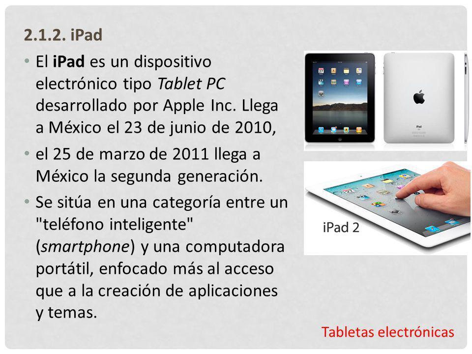 el 25 de marzo de 2011 llega a México la segunda generación.