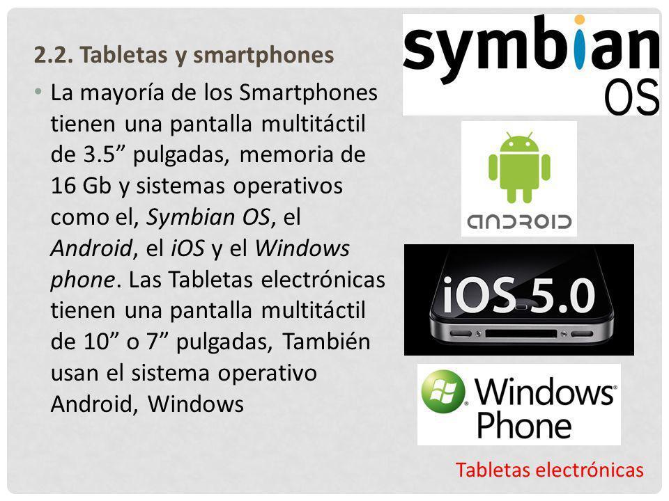 2.2. Tabletas y smartphones
