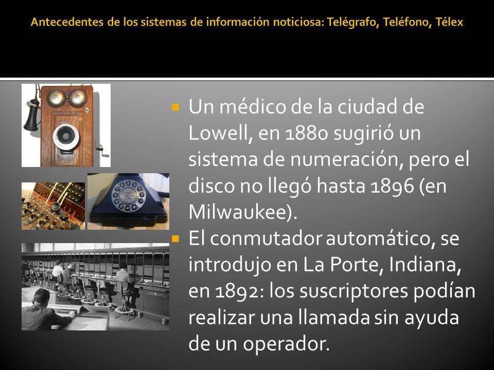 Antecedentes de los sistemas de información noticiosa: Telégrafo, Teléfono, Télex