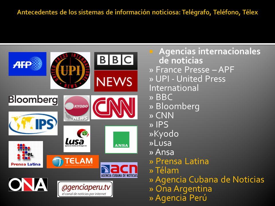 Agencias internacionales de noticias