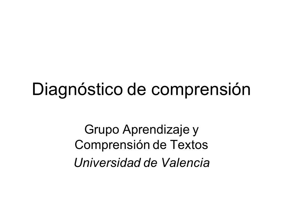 Diagnóstico de comprensión