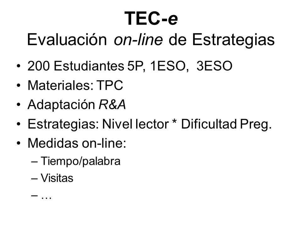 TEC-e Evaluación on-line de Estrategias
