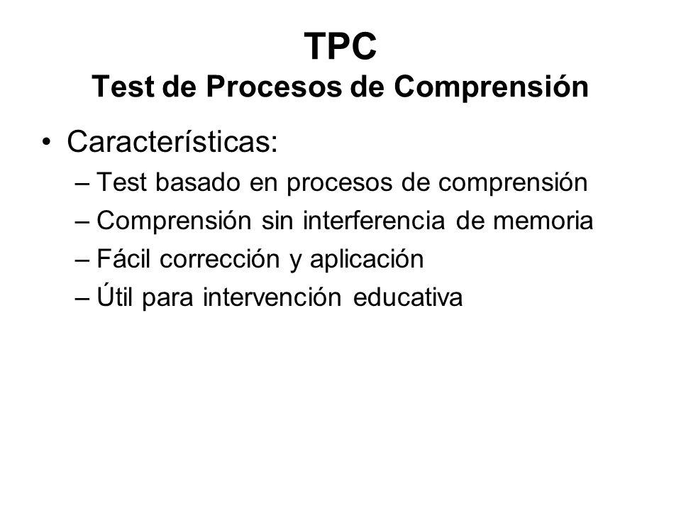 TPC Test de Procesos de Comprensión